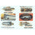 JL INNOVATIVE - 374 - VINTAGE BUS BILLBOARD SIGNS - 1950s - HO SCALE