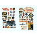 JL INNOVATIVE - 404 - VINTAGE AUTOMOBILE SIGNS - 1940s - 1950s - HO SCALE
