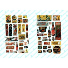 JL INNOVATIVE - 406 - UNCOMMON & UNUSUAL SOFT DRINK SIGNS - 1940s - 1950s