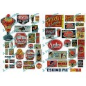 JL INNOVATIVE - 422 - ICE CREAM & SODA FOUNTAIN SIGNS - 1940s - 1950s - CONTAINS 49 FULL COLOUR SIGNS - HO SCALE