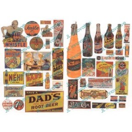 JL INNOVATIVE - 425 - UNUSUAL SOFT DRINK SIGNS - 1940s - 1950s