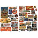 JL INNOVATIVE - 426 - FOOD & HOUSEHOLD SIGNS - 1940s - 1950s - HO SCALE