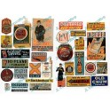 JL INNOVATIVE - 427 - TOBACCO, CIGAR & BEER SIGNS - 1930s - 1950s - HO SCALE