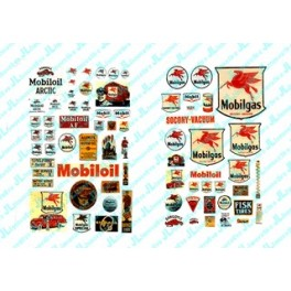 JL INNOVATIVE - 485 - MOBIL GAS STATION SIGNS - HO SCALE