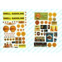 JL INNOVATIVE - 488 - SHELL GAS STATION SIGNS - HO SCALE