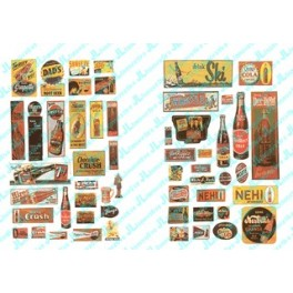 JL INNOVATIVE - 606 - UNCOMMON & UNUSUAL SOFT DRINK SIGNS - 1940s - 1950s