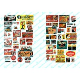 JL INNOVATIVE - 633 - SALOON / TAVERN SIGNS - 1930s -1950s - N SCALE