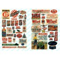 JL INNOVATIVE - 683 - FARM IMPLEMENT / FEED & SEED SIGNS - 1950s+ - N SCALE