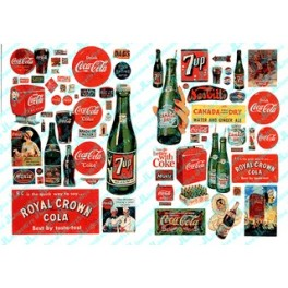 JL INNOVATIVE - 697 - VINTAGE SOFT DRINK SIGNS - 1930s - 1960s - N SCALE