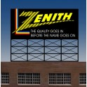 MILLER 44-0452 - NEON SIGN - ZENITH - SMALL