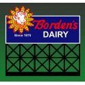 MILLER 1052 - NEON SIGN - BORDEN'S DAIRY - SMALL