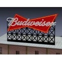 MILLER 4981 - NEON SIGN - BUDWEISER SIGN - LARGE