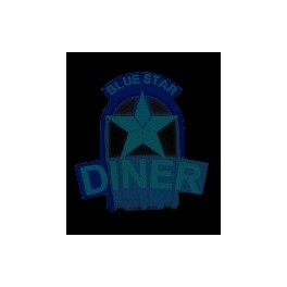 MILLER 5581 - NEON SIGN - BLUE STAR DINER - LARGE