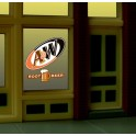 MILLER 6666 - NEON SIGN - A&W WINDOW SIGN
