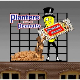 MILLER 7061 - NEON SIGN - PLANTER'S PEANUTS - LARGE