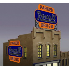 MILLER 7581 - NEON SIGN - REXALL - LARGE