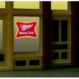 MILLER 7777 - NEON SIGN - MILLER WINDOW SIGN