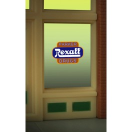 MILLER 8820 - NEON SIGN - REXALL WINDOW SIGN