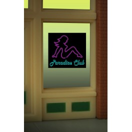 MILLER 8850 - NEON SIGN - PARADICE CLUB WINDOW SIGN