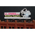 MILLER 9382 - NEON SIGN - I.C. SPARKS WELDING SUPPLY - SMALL