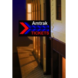 MILLER 64812-R - NEON SIGN - AMTRAK - LARGE RIGHT