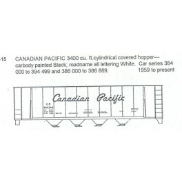 CDS DRY TRANSFER S-15 CANADIAN PACIFIC 4 BAY COVERED HOPPER