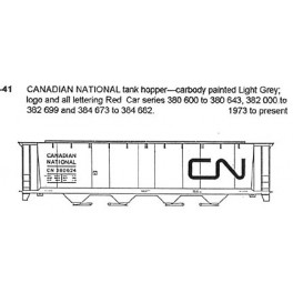 CDS DRY TRANSFER S-41 CANADIAN NATIONAL 4 BAY COVERED HOPPER