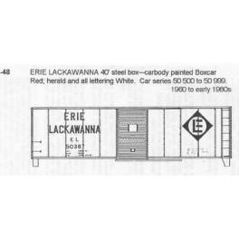 CDS DRY TRANSFER S-48  ERIE LACKAWANNA 40' BOXCAR