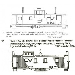CDS DRY TRANSFER G-67  CENTRAL VERMONT CABOOSE - G SCALE