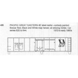 CDS DRY TRANSFER S-85  PACIFIC GREAT EASTERN 40' REEFER