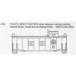 CDS DRY TRANSFER G-123  PACIFIC GREAT EASTERN WOOD CABOOSE