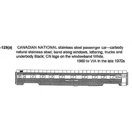 CDS DRY TRANSFER N-129 CANADIAN NATIONAL PASSENGER CAR