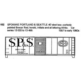 CDS DRY TRANSFER G-152  SPOKANE PORTLAND & SEATTLE 40' BOXCAR