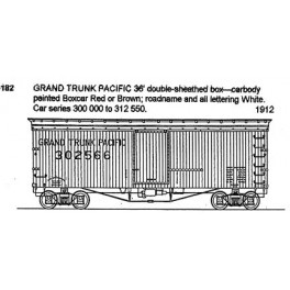 CDS DRY TRANSFER S-182  GRAND TRUNK PACIFIC 36' BOXCAR