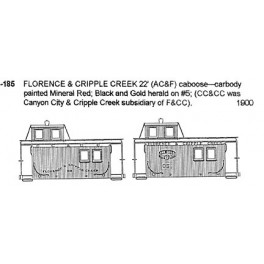 CDS DRY TRANSFER S-185  FLORENCE & CRIPPLE CREEK CABOOSE