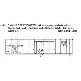CDS DRY TRANSFER N-191 PACIFIC GREAT EASTERN 40' REEFER