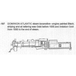 CDS DRY TRANSFER N-197  DOMINION ATLANTIC STEAM LOCOMOTIVE - N SCALE
